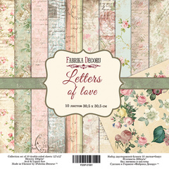 Scrapbooking Blok - Letters of Love 30,5 x 30,5 cm
