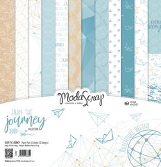 Scrapbooking Blok - Enjoy the journey 30,5 x 30,5 cm
