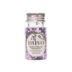 Nuvo - Confetti - Muted Mauve Hexagons - 35ml Bottle - 1061n